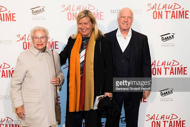 Francis Bouygues' widow Monique Bouygues her daughter Martine Bouygues and Corinne's husband director Sergio Gobbi attend the premiere of French...