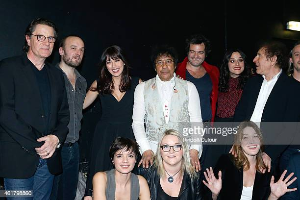 Francis Cabrel Ours alias Charles Souchon Nolwenn Leroy Laurent Voulzy 'M' Matthieu Chedid Carla Bruni Sarkozy and Alain Souchon attend the '10th...