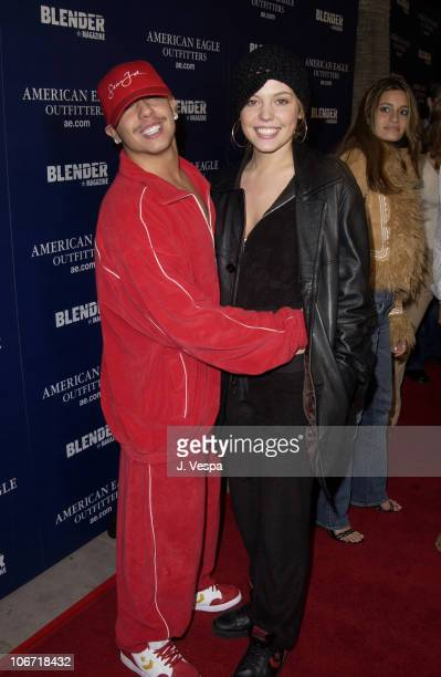 Francis Capra and Agnes Bruckner during American Eagle Outfitters Flagship Store Opening to Benefit Jumpstart Sponsored by Blender Magazine at...