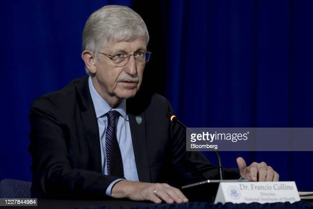 Francis Collins, director of the U.S. National Institutes of Health , speaks during a roundtable discussion at the American Red Cross National...