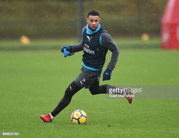 Francis Coquelin of Arsenal during a training session at London Colney on December 27 2017 in St Albans England