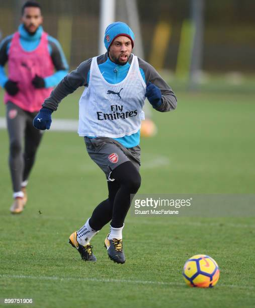 Francis Coquelin of Arsenal during a training session at London Colney on December 30 2017 in St Albans England