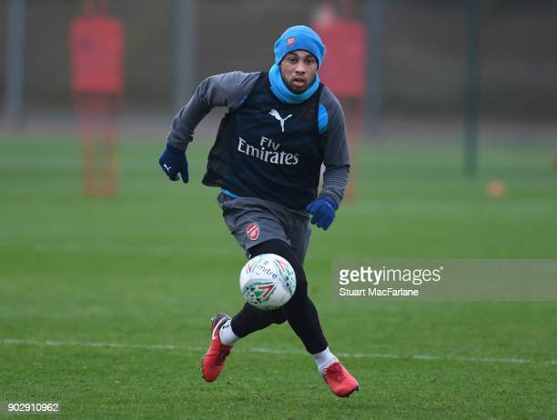 Francis Coquelin of Arsenal during a training session at London Colney on January 9 2018 in St Albans England