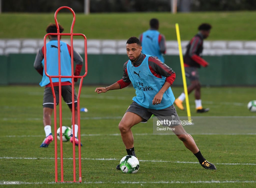 Francis Coquelin of Arsenal during the Arsenal Training Session at Koragah Oval on July 11, 2017 in Sydney, Australia.
