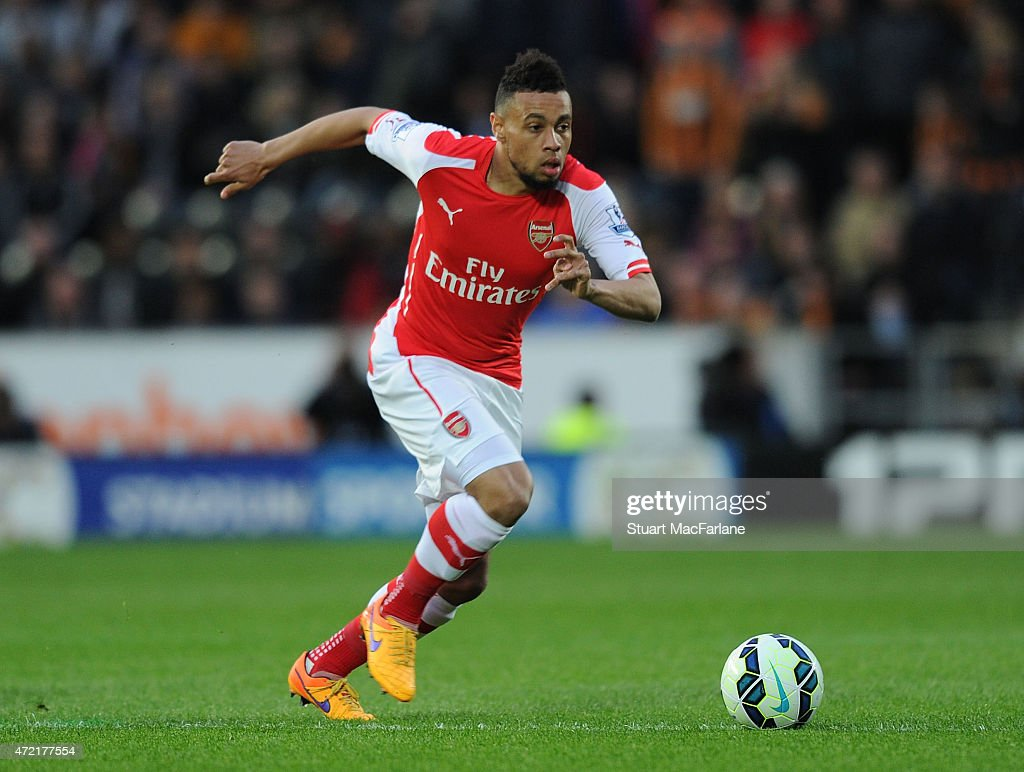 Francis Coquelin of Arsenal during the Barclays Premier League match between Hull City and Arsenal at KC Stadium on May 4, 2015 in Hull, England.