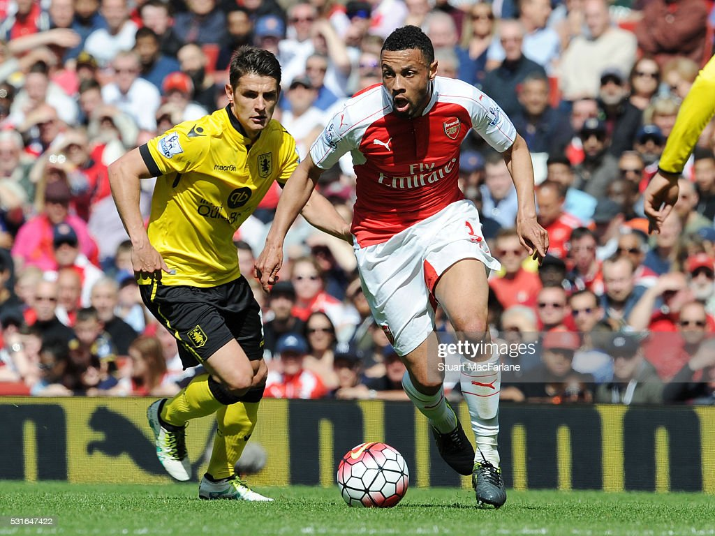 Francis Coquelin of Arsenal during the Barclays Premier League match between Arsenal and Aston Villa at Emirates Stadium on May 15, 2016 in London, England.