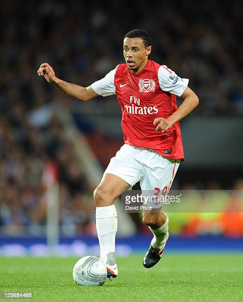 Francis Coquelin of Arsenal during the Carling Cup Third Round match between Arsenal and Shrewsbury Town at Emirates Stadium on September 20 2011 in...