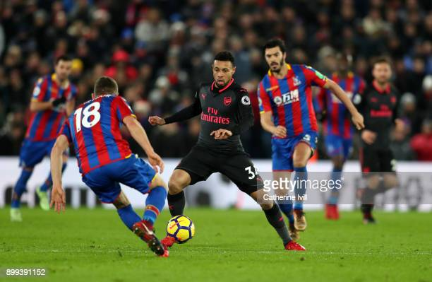 Francis Coquelin of Arsenal during the Premier League match between Crystal Palace and Arsenal at Selhurst Park on December 28 2017 in London England