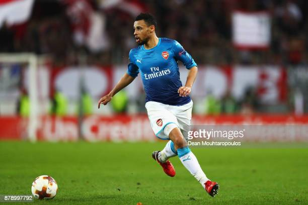 Francis Coquelin of Arsenal in action during the UEFA Europa League group H match between 1 FC Koeln and Arsenal FC at RheinEnergieStadion on...