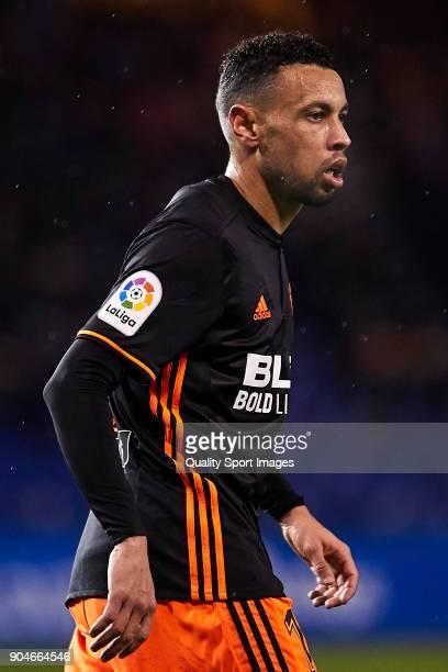 Francis Coquelin of Valencia CF looks on during the La Liga match between Deportivo La Coruna and Valencia CF at Abanca Riazor Stadium on January 13...