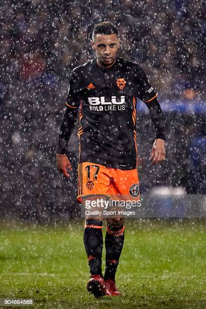 Francis Coquelin of Valencia CF looks on during the La Liga match between Deportivo La Coruna and Valencia CF at Abanca Riazor Stadium on January 13...