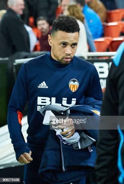 Francis Coquelin of Valencia CF prior the Spanish Copa del Rey match Round of 8 match between Valencia CF and Deportivo Alaves at Estadio de Mestalla...