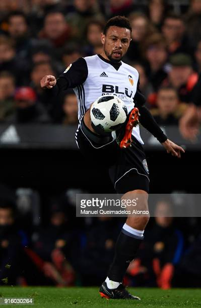 Francis Coquelin of Valencia in action during the Copa del Rey semifinal second leg match between Valencia and Barcelona on February 8 2018 in...