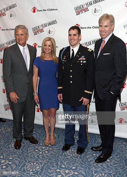 Francis Duane VP Chairman PhillipsVan Heusen TV personality Jane Hanson Captain Scott Smiley US Army and TV personality David Gregory attend the 69th...
