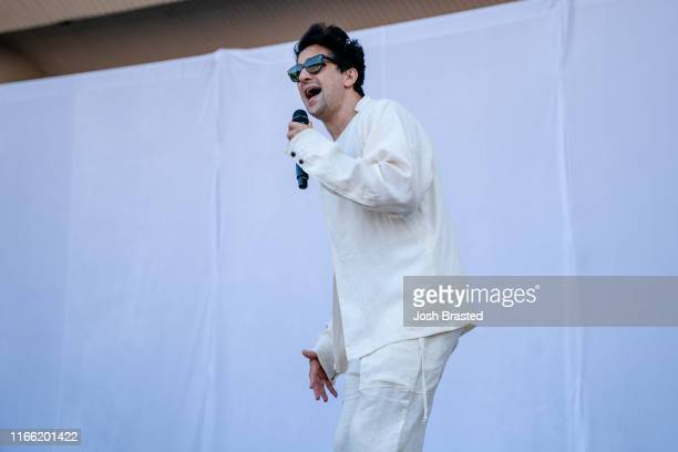 Francis Farewell Starlight of Frances and the Lights performs at the Lollapalooza Music Festival at Grant Park on August 04 2019 in Chicago Illinois