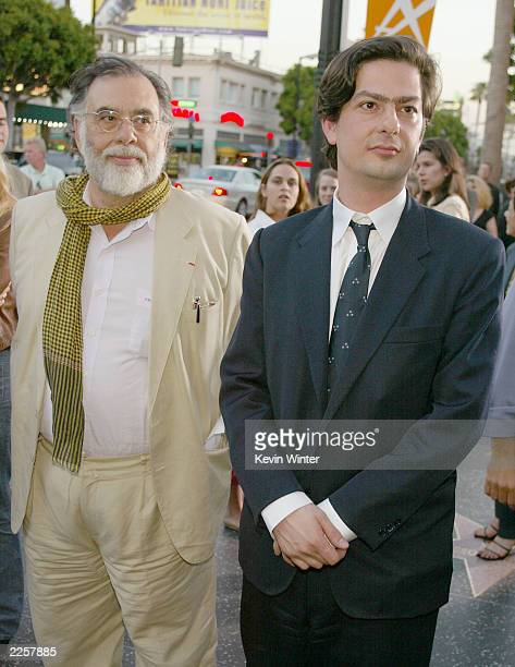 Francis Ford and Roman Coppola at the premiere of CQ at the Egyptian Theatre in Los Angeles Ca Monday May 13 2002 Photo by Kevin Winter/Getty Images