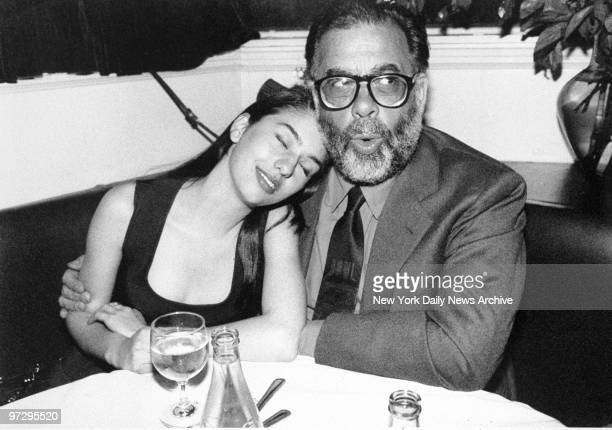 """Francis Ford Coppola and daughter Sofia Coppola at rap party for """"The Godfather: Part III"""" at Club M.K."""