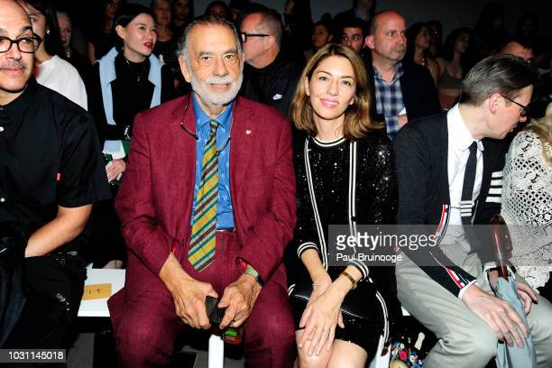 Francis Ford Coppola and Sofia Coppola attend the Anna Sui NYFW Show during New York Fashion Week The Shows at Gallery I at Spring Studios on...