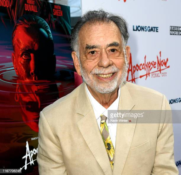 """Francis Ford Coppola arrives at the Premiere of Lionsgate's """"Apocalypse Now Final Cut"""" the at ArcLight Cinerama Dome on August 12, 2019 in Hollywood,..."""