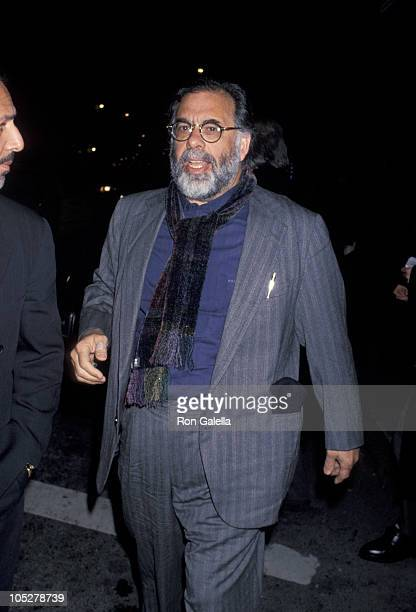 """Francis Ford Coppola during """"Mad Dog And Glory"""" New York Screening at Loews 19th Street Cinema in New York City, New York, United States."""