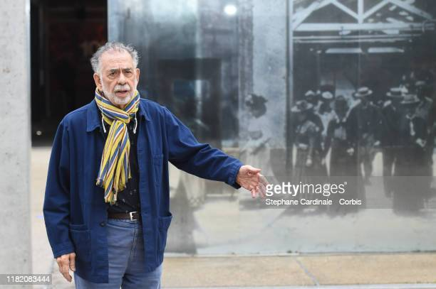 Francis Ford Coppola shoots the remake of Louis Lumiere's 1st French short black-and-white silent documentary film 'La Sortie de l'Usine' during the...
