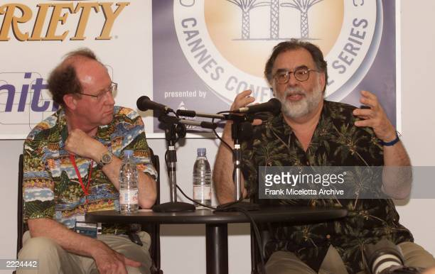 Francis Ford Coppola speakswith Variety Senior International Advisor Peter Cowie at the Variety Cannes Conference Series 2001 at the Variety...