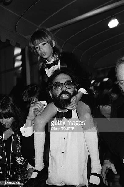 Francis Ford Coppola with his daughter Sofia during the Cannes Film Festival in 1979.