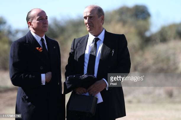 Francis Franco the grandson of Francisco Franco stands with his family's lawyer Luis Felipe Utrera Molina as the remains of the Spanish dictator...