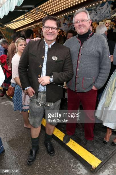 Francis Fulton Smith and Ali Braeu during the opening of the Oktoberfest 2017 at Theresienwiese on September 16 2017 in Munich Germany