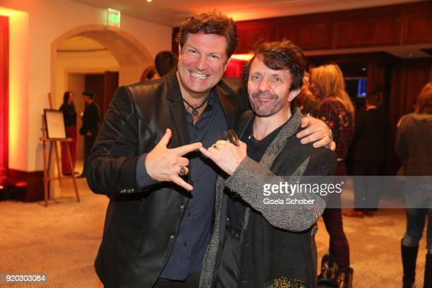 Francis Fulton Smith and David Bennent during the Movie Meets Media 'MMM' event on the occasion of the 68th Berlinale International Film Festival at...