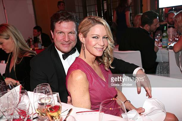 Francis Fulton Smith and his wife Verena Klein during the German Film Ball 2016 party at Hotel Bayerischer Hof on January 16 2016 in Munich Germany