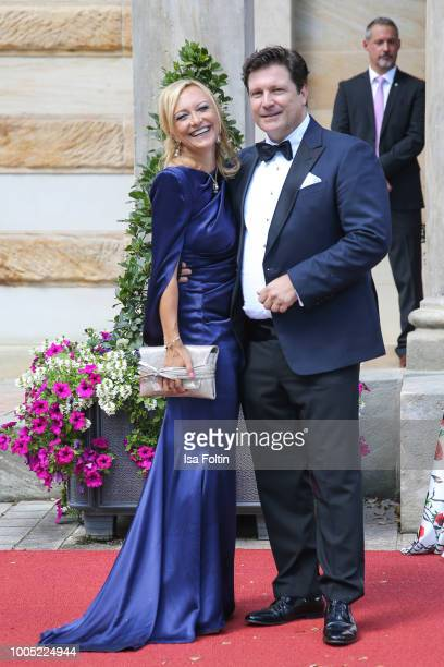 Francis FultonSmith and Claudia Hillmeier during the opening ceremony of the Bayreuth Festival at Bayreuth Festspielhaus on July 25 2018 in Bayreuth...