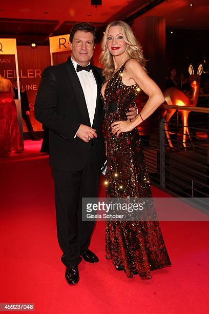 Francis FultonSmith and his wife Verena Klein arrive at the Bambi Awards 2014 on November 13 2014 in Berlin Germany