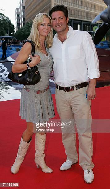 """Francis Fulton-Smith and his wife Verena Klein arrive at the German premiere of """"Poseidon"""" July 11, 2006 at the Berlinale Palast in Berlin, Germany."""