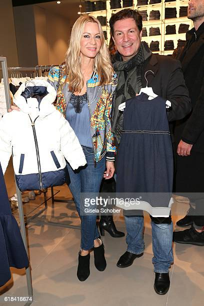 Francis FultonSmith and his wife Verena Klein during the society shopping event at Ingolstadt Village on October 26 2016 in Ingolstadt Germany