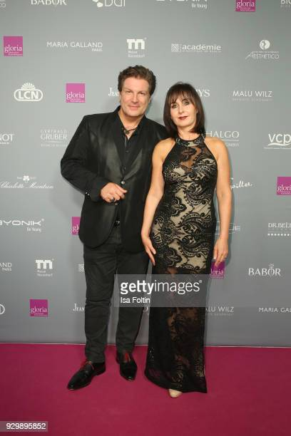 Francis FultonSmith and Sarah Irrenhauser attend the Gloria Deutscher Kosmetikpreis at Hilton Hotel on March 9 2018 in Duesseldorf Germany