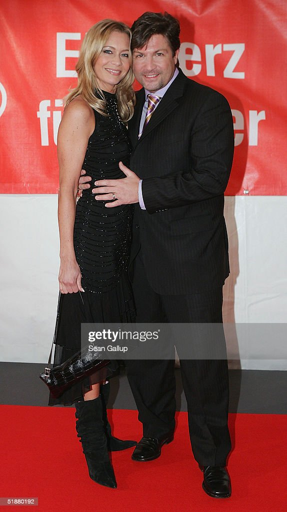 Francis Fulton-Smith and Verena Klein arrive at the 'Ein Herz Fuer Kinder' Gala on December 18, 2004 at The Axel Springer building in Berlin, Germany.