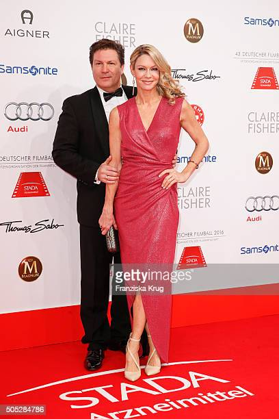 Francis FultonSmith and Verena Klein during the German Film Ball 2016 at Hotel Bayerischer Hof on January 16 2016 in Munich Germany