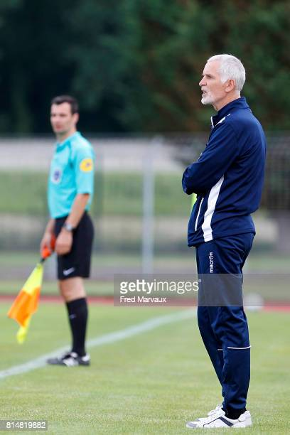 Francis Gillot coach of Auxerre during the friendly match between Fc Metz and AJ Auxerre on July 14 2017 in StDizier France