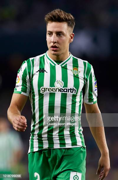 Francis Guerrero of Betis looks on during the La Liga match between Real Betis Balompie and Levante UD at Estadio Benito Villamarin on August 17 2018...