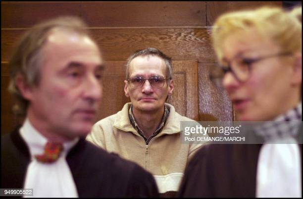 Francis Heaulme and his lawyers Luc Girard and Liliane Glock