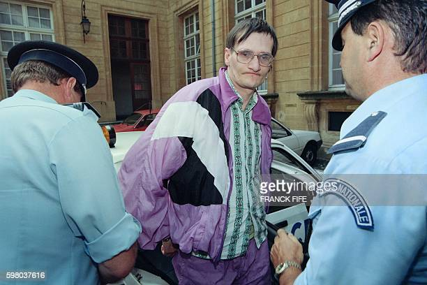Francis Heaulme one of the alleged murderers of Laurence Guillaume a 14yearold girl killed during the night of May 7 to 8 arrives on August 10 1993...