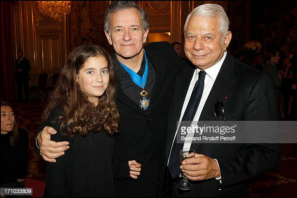 Francis Huster and daughter Toscane at Francis Huster Received As Commander In the National Order Of Merit During Ceremony At Elysee Palace