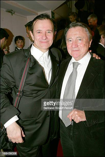 Francis Huster and Serge Rousseau at Francis Huster In Memoires D'Un Tricheur At Theatre Des Mathurins