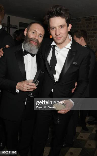 Francis Lee and Josh O'Connor attend the Grey Goose 2018 BAFTA Awards after party on February 18 2018 in London England