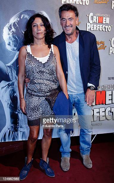 Francis Lorenzo and girlfriend attend the Crimen Perfecto premiere photocall at Reina Victoria theatre on September 14 2011 in Madrid Spain