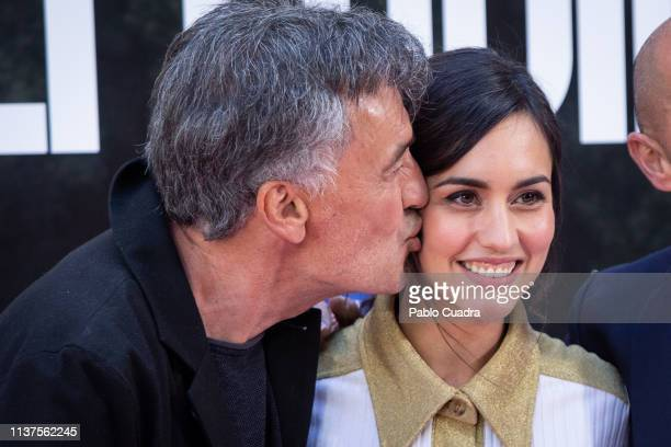 Francis Lorenzo and Megan Montaner attend the 'La Caza Monteperdido' photocall on March 22 2019 in Madrid Spain