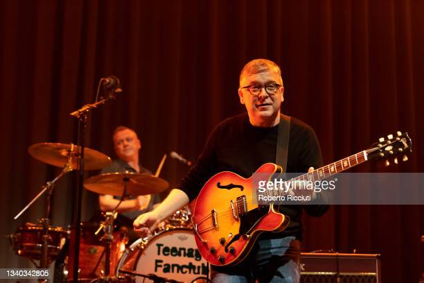 Francis Macdonald and Norman Blake of Teenage Fanclub perform on stage at Assembly Rooms on September 14, 2021 in Edinburgh, Scotland.