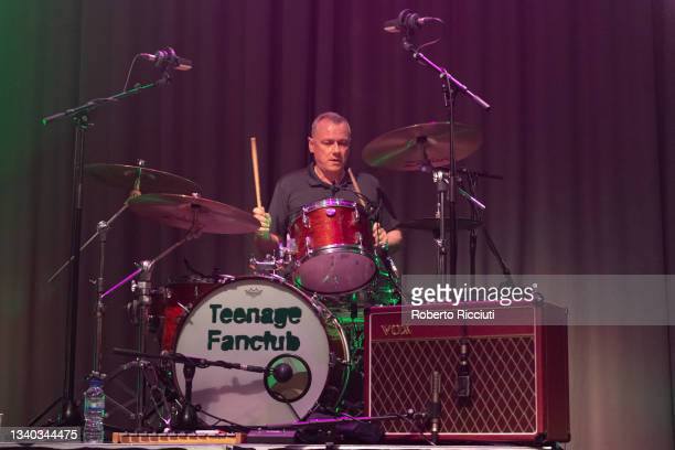 Francis Macdonald of Teenage Fanclub performs on stage at Assembly Rooms on September 14, 2021 in Edinburgh, Scotland.