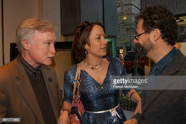 Francis Nauman Sophie Matisse and Adam Weinberg attend Madison Avenue Where Fashion Meets Art at David Yurman on April 28 2005 in New York City